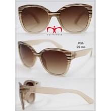 Heißer Verkauf und moderne Damen-Plastik-Sonnenbrille (WSP601544)