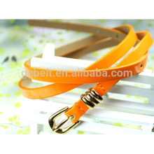 woman's 1.5cm fashion yellow pu belt for garments
