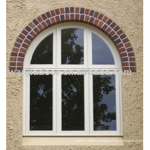 Arched fixed glass windows