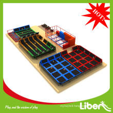 2014 Liben hot sales new style cheap big trampolines with foam pit ball pool in trampoline park