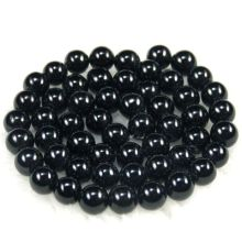 "8MM Black Onyx Round Beads 16"""