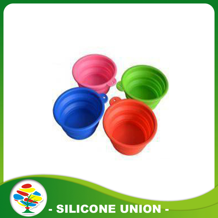 silicone pet outdoor portable folding bowl