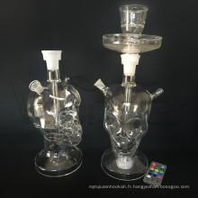 Narguilé en verre squelette de type squelette pour la vente en gros