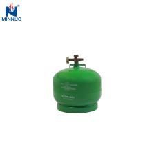 Botella de cilindro de tanque de propano lpg portátil de 2 kg de Yemen