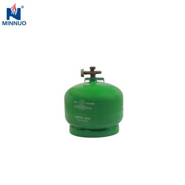 2 kg de garrafa de gás portátil lpg para o mercado do Iêmen