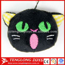Hot sale small plush toys chean screen phone pendant with dust plug