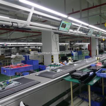 Montagem automatizada da linha de produção de TV com luz LED