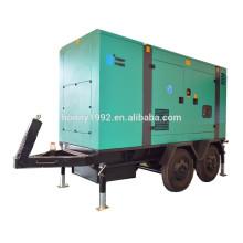 50Hz 60Hz Generador diesel de potencia de remolque Tipo silencioso 400kW