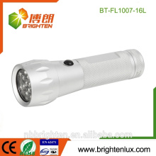 Factory Supply Cheap Aluminum 16 Led Mini torch Gift Cool super bright led flashlight