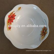 Cuenco de cerámica blanco impreso último diseño personalizado