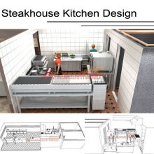 Shinelong Customized Project Steakhouse Cocina Diseño aunque Shinelong