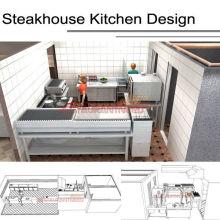 Хотя Shinelong Подгонянный проект стейк-Хаус кухня дизайн Shinelong