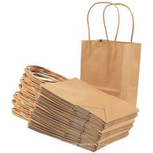 Крафт-бумага Twist Handle Рекламный подарочный бумажный пакет