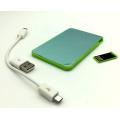Ept 2016 Wolesale & Retail 2000mAh Tarjeta de crédito Power Bank con 2/4/8 GB USB Pendrive para Regalos promocionales
