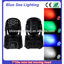 NOUVEAU 7x10w rgbw 4in1led moving head wash light