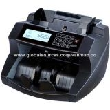 Bill counter with quiet counting mechanism and more functional LCD display