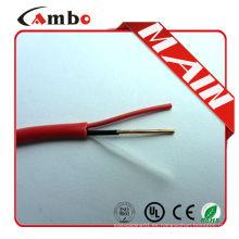 Precio de fábrica alta calidad 1000ft FPL rojo FPLR alarma de incendio cable utp anti fuego
