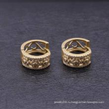 Дешевые мода алмаза 18k позолоченный серьги