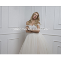 Suministro de fábrica por encargo Primavera nuevo diseño una palabra palabra piso vestido de novia vestido de novia