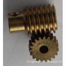 Brass Worm Gear and Pinion for Medical Equipment