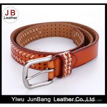 Cinturão de perfuração da nova moda de estilo com fio de nylon branco