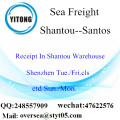 Shantou Port LCL Consolidation To Santos