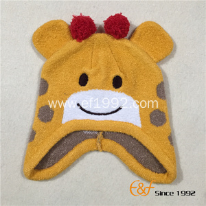 Jacquard Elastic Knitted  Hat with Animal Pattern for Kids