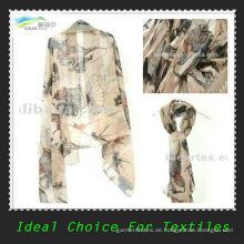 Neue Mode-Design 50D gedruckt Chiffon für Schal