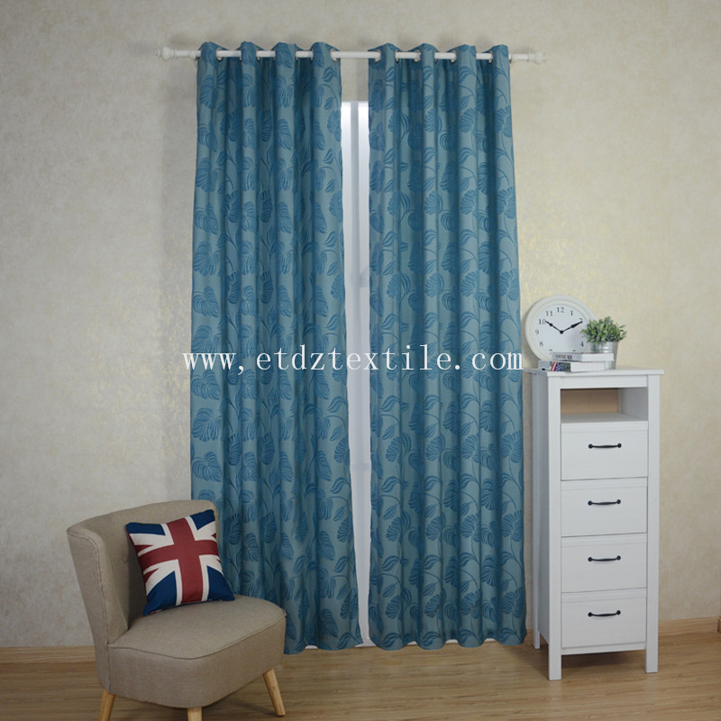 New High Grade  Jacquard Flower Pattern Curtain Fabric WZQ201