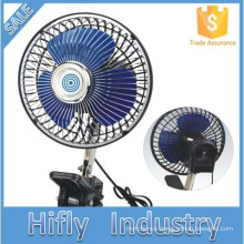 HF-807 DC 12V/24V Oscillating Portable Car Fan Air Cooling Mini Car Fan Plastic 6 Inch Car Fan