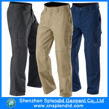 Mens Heavy-Duty Cargo Pocket Work Colored Cotton Pants