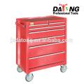 Caixa de ferramentas de aço com baús e rodízios 4 rodízios de rodas (vermelho)