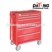 Boîte à outils en acier avec coffres et armoires à roulettes 4 roulettes (rouges)