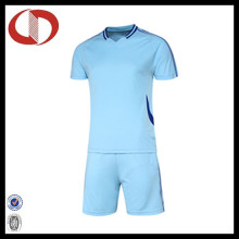 100% Polyester Wholesale Men Soccer Jersey with Short Sleeve