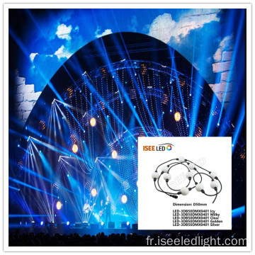 Disco 50mm effet 3D led pixel ball