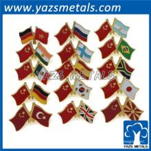фабрика изготовленный на заказ дешевый металлический штырь отворотом флага