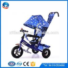4 IN 1 drücken Dreirad drei Luftrad Baby Dreirad Metallrahmen Kinder Kinder Dreirad mit Dach / Sonnenschirm