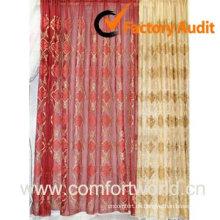 Bestickte Vorhang mit Organza