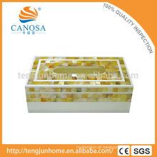 Papel de Tecido Lápis de Ouro Mãe de Pearl Shell Tissue Box
