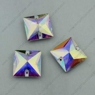 Square Ab Farbe Nähen auf Buttons Steine