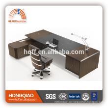 ДТ-09 последний офисный стол дизайн исполнительный офисный стол современный офисный стол черный