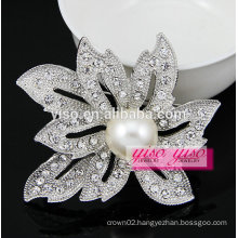 custom made flower fashional crystal brooch