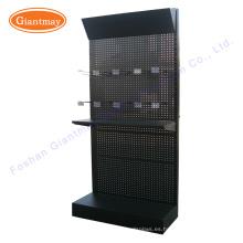 Triángulo de cabecera de almacenamiento de metal tienda de hardware estantes colgantes pantalla herramienta de herramientas de rack