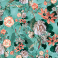 Transfer Digital Print 300T Pongee 100% Polyester Fabric
