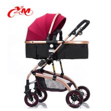 Лучшие продажи навес прогулочной коляски младенца новой конструкции алюминиевый детские коляски 3 в 1