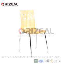 Estilo francés que apila la silla de comedor de madera OZ-1002