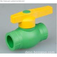 Pipe Fitting, PPR  Pipe Fitting ,  Plastic Ball Valve with Brass Core