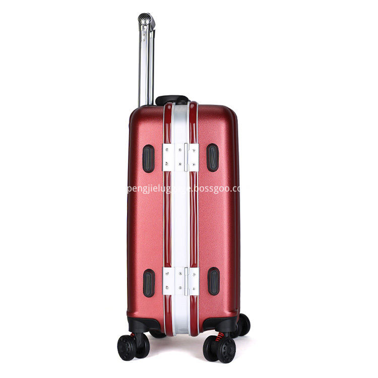red ABS luggage