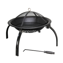 Folding Steel Fire Pit och BBQ
