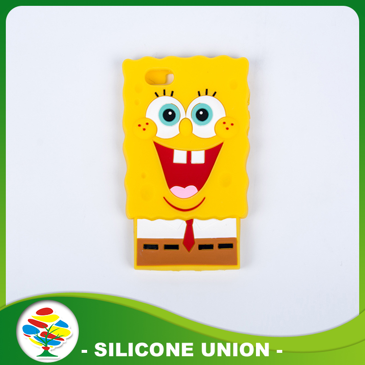 Silicone Cellphone Case Spongebob Anime Doll